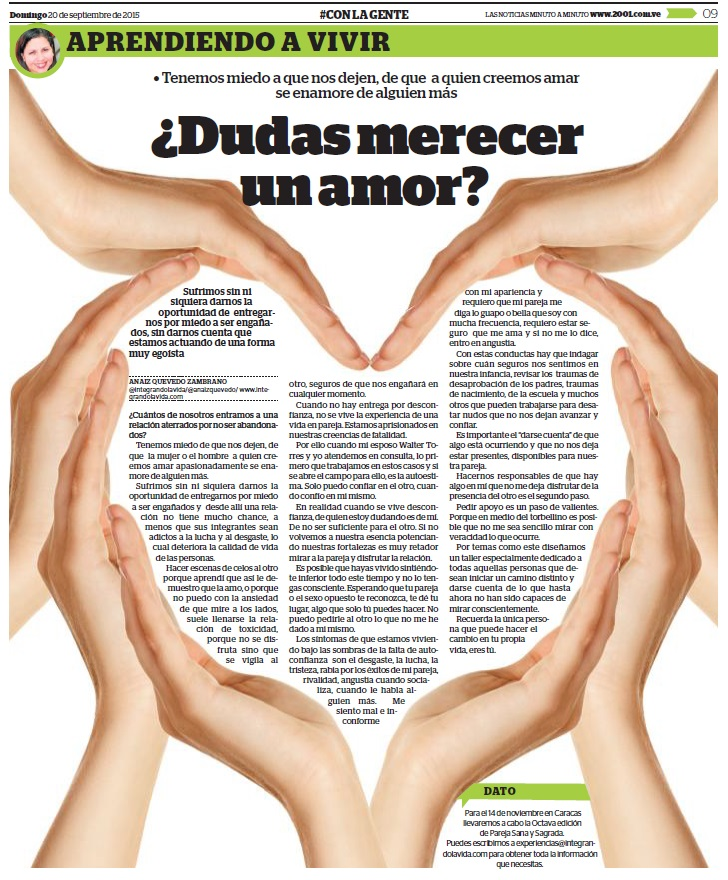dudas merecer amor